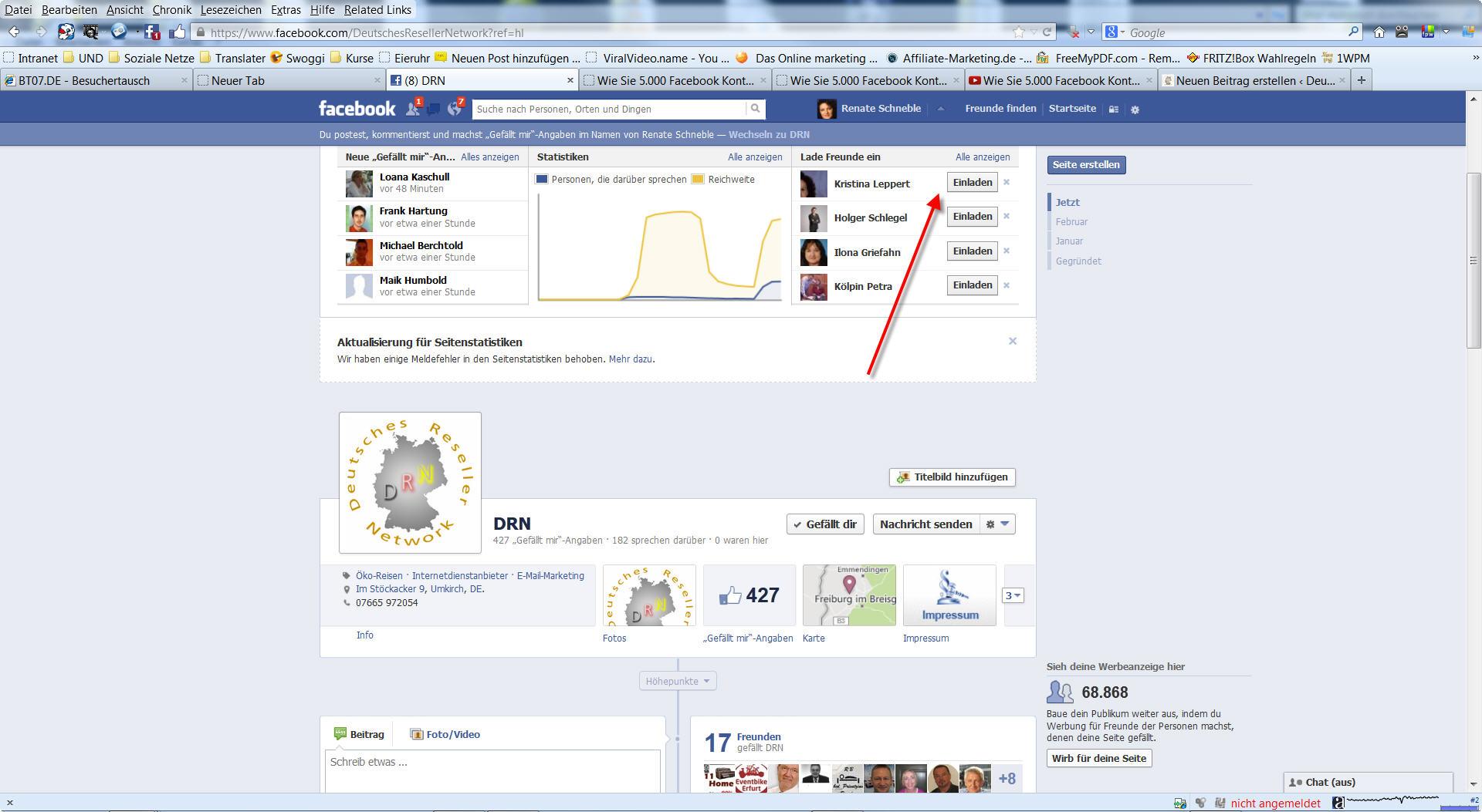 Fanpage Deutsches Reseller Network